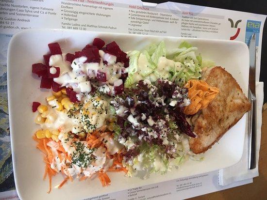 Bivio, Zwitserland: fitnessteller mit pouletbrust
