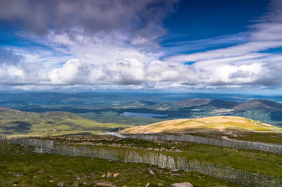 Aviemore and the Cairngorms, UK : view from the cairngorm mountains