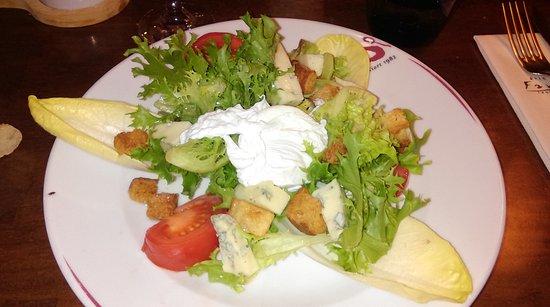Ниор, Франция: Salade gorgonzola