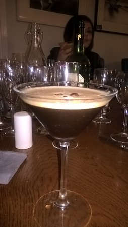 Arnolds Hotel: My espresso martini to finish my meal off in the bar.