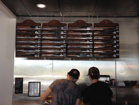 Barrie, Canada: menu selection