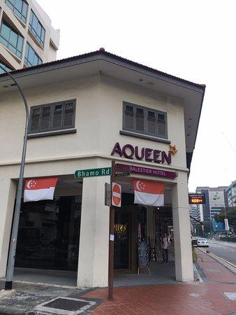 Aqueen Hotel Balestier : 外観