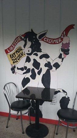 Lakeside Creamery : Outside Cow ;)