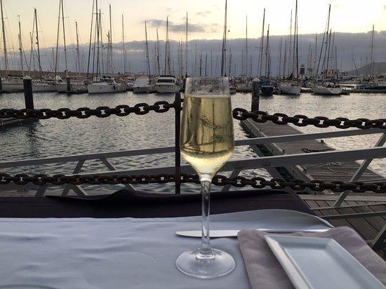 Blue Note Lanzarote: Overlooking the Marina, Playa Blanca opposite the restaurant