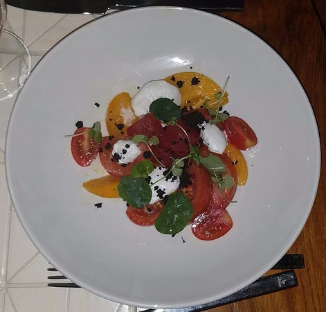 Lavelle - Watermelon, Heirloom Tomatoes & Goat cheese salad - Strongly recommend!