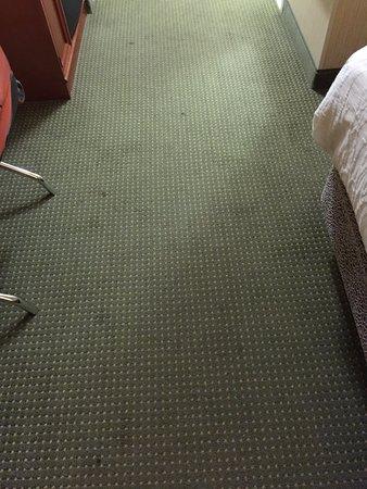 Hilton Garden Inn Portland/Lake Oswego: Very stained carpet.