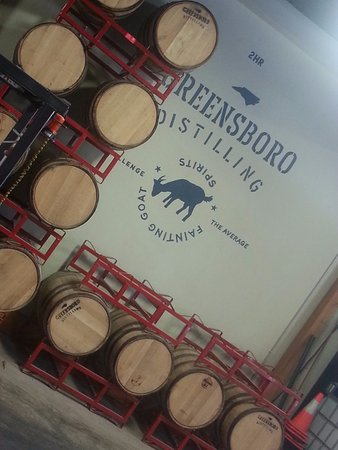 see the Greensboro Distilling operations and taste Fainting Goat Spirits