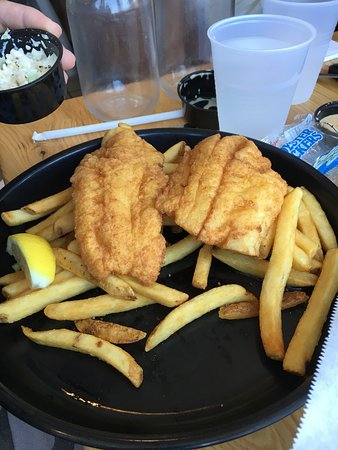 A great place to eat fresh seafood. Crab cakes are a must. The fish and chips are delicious and