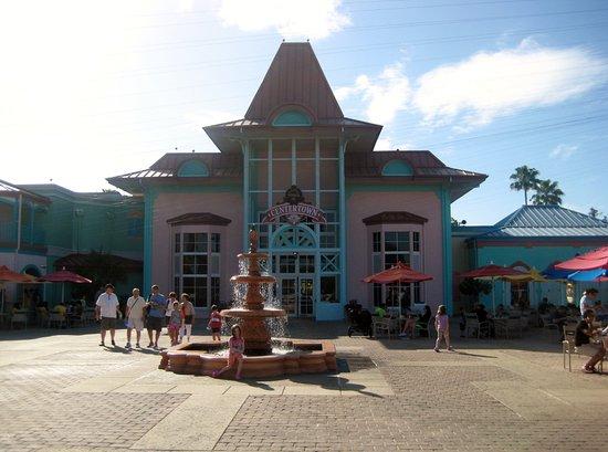 Disneys Caribbean Beach Resort The Main Buliding Arcade Food Court Gift Shop