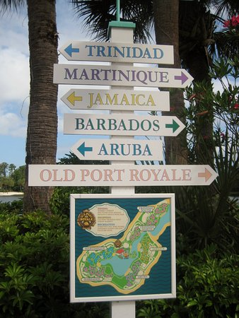 Map and directions to resort areas - Picture of Disney\'s Caribbean ...