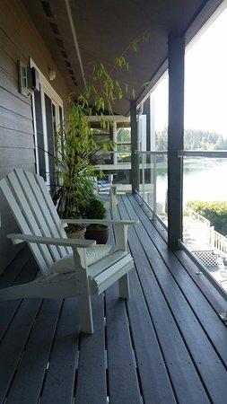 Shelton, WA: Deck outside Captain's Quarters
