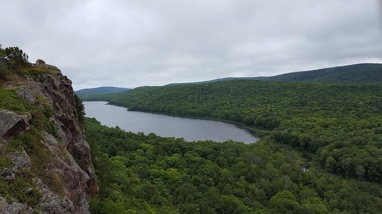 Map of Porcupine Mountains with trails - Picture of Lake of ...