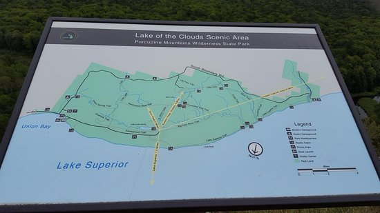 Porcupine Mountains Map on