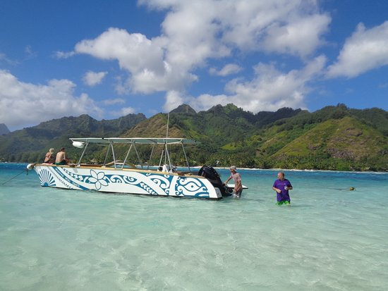 Moorea, French Polynesia: At one of our stops. The water is just incredible. There's just no way to capture it all in a pi