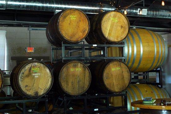Anderson, SC: Wooden barrels