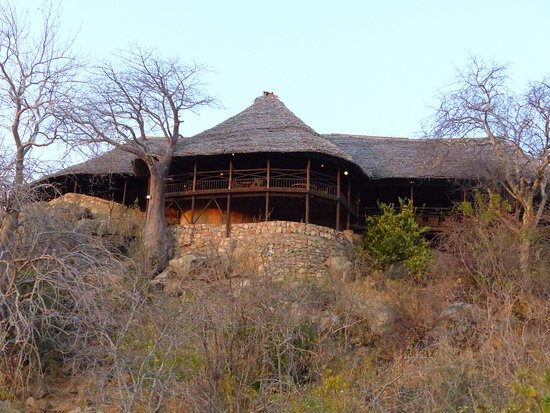 Ruaha River Lodge: The lodge for drinks and food.