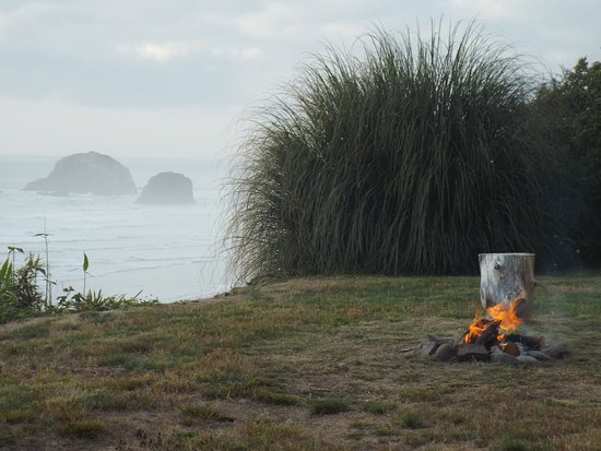 Arch Cape, OR: fire pit view