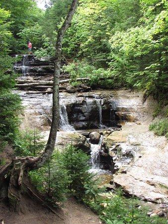 Grand Marais, MI: Sable Falls along the Lake Superior Shore and Piicture Rocks.