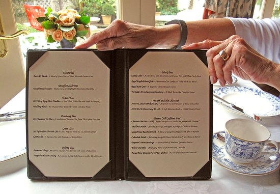 Washington, VA: Afternoon Tea Menu