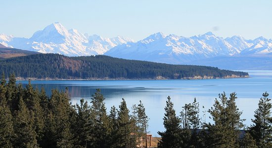 Twizel, Nuova Zelanda: Set on the cliffs overlooking Lake Pukaki
