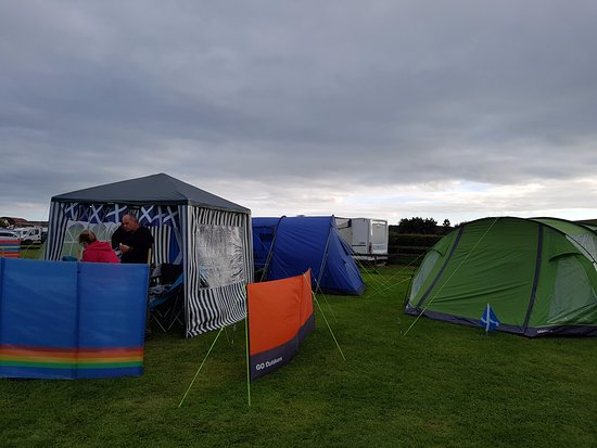 Newton Stewart, UK: Our wee tented village