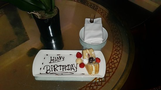 Radisson Blu Edwardian Hampshire Hotel Surprise Happy Birthday Cake Delivered To Our Room