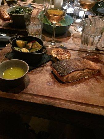 Paraga, Grecia: best salmon ever!!