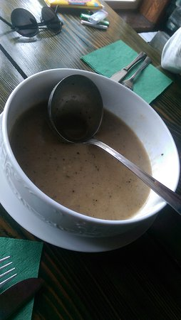 Lokve, Kroatia: mushroom soup - made of variety mushrooms hand picked by the locals