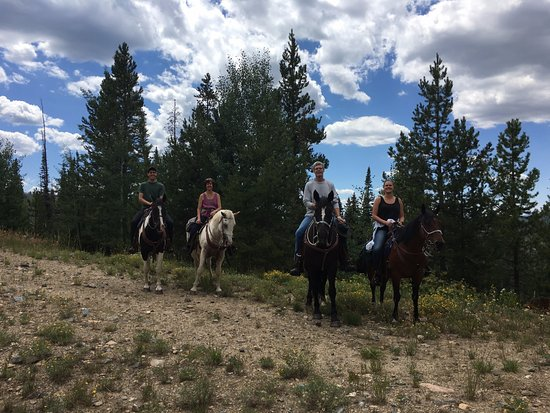 Clark, CO: Our fam on morning ride