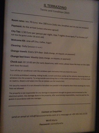 """Il Pozzo: """"Rules"""" Stating no A/C when you leave the room - HOT"""