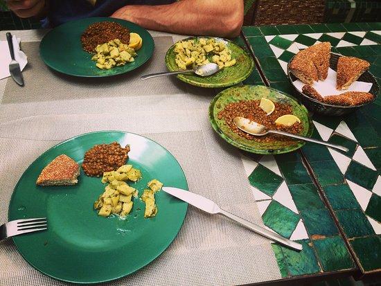 Riad Vert Marrakech: Tasty salads