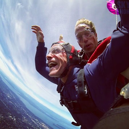 Snohomish, WA: Free-fall from 13,500 with Kelly Craig (instructor). Best birthday present ever!