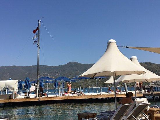 Hotel Torbahan: Hotelın hemen onundekı Beach club gayet güzel.