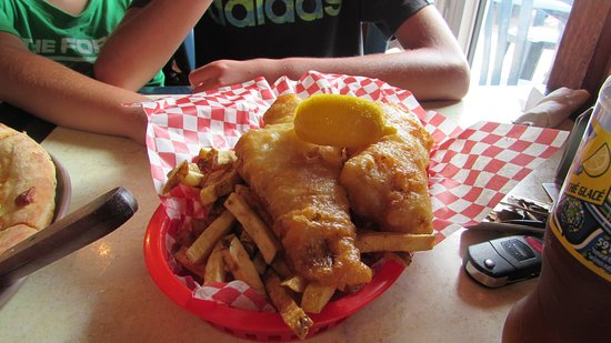 Saint Peters Bay, Canada: Fish and chips, cod, mackrell, or haddock.