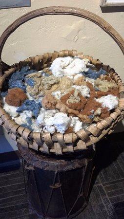 San Juan la Laguna, Guatemala: Brown cotton, coconut stain...