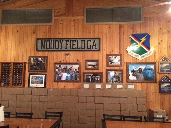 Valdosta, GA: Photo Display of Moody Field, GA