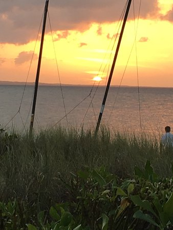 Hemingway's Restaurant : The sunset from the the deck is always beautiful. If the weather permits, it is the best place t