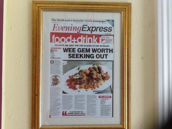 Laurencekirk, UK: Evening express 2016
