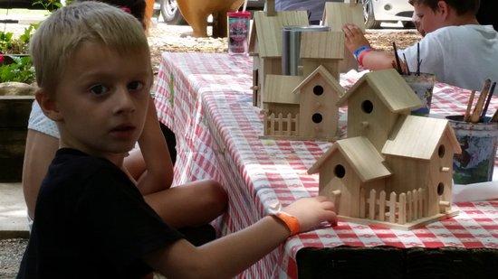 Yogi Bear's Jellystone Park Marion: Bird house craft. Ready to paint.