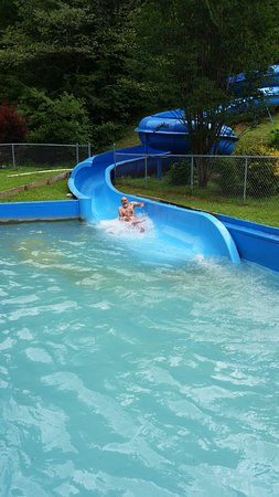Yogi Bear's Jellystone Park Marion: Water slide. This you need a wrist band to slide down, so it costs.