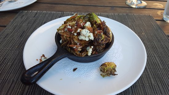 Flying Fish : black and blue brussel sprouts
