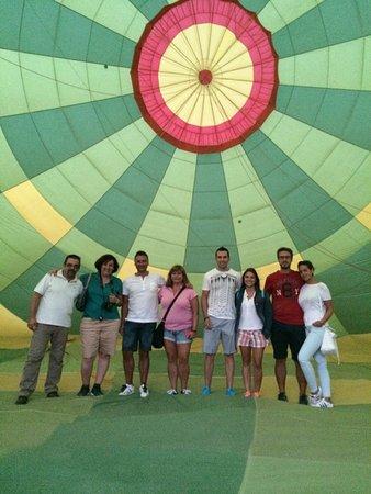 Green Aerostacion: dentro del globo