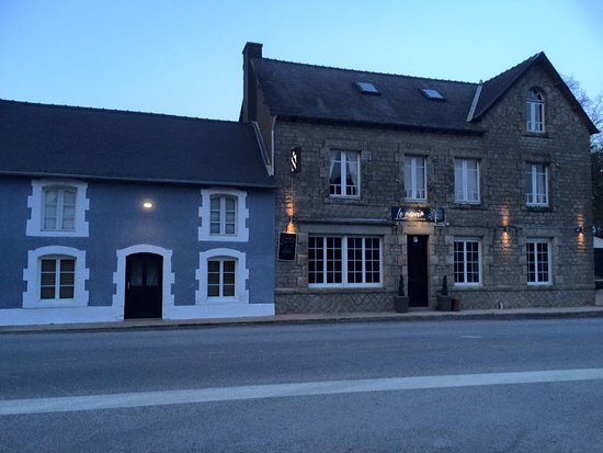 Mohon, France: exterior evening
