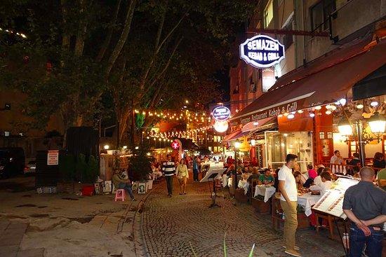 Khorasani Restaurant: Street in front of the restaurant