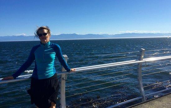 Ogden Point Breakwater: venteux mais charmant
