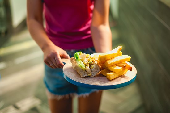 Scarborough, Australien: Fish Taco with Chips