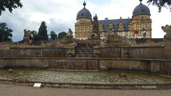 Memmelsdorf, Alemania: kurz vor Beginn der Wasserspiele