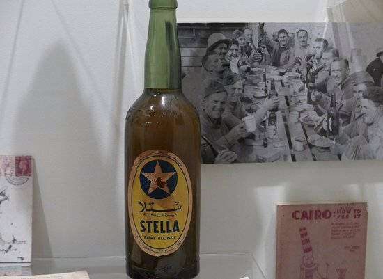National Army Museum: stella bier (note picture)
