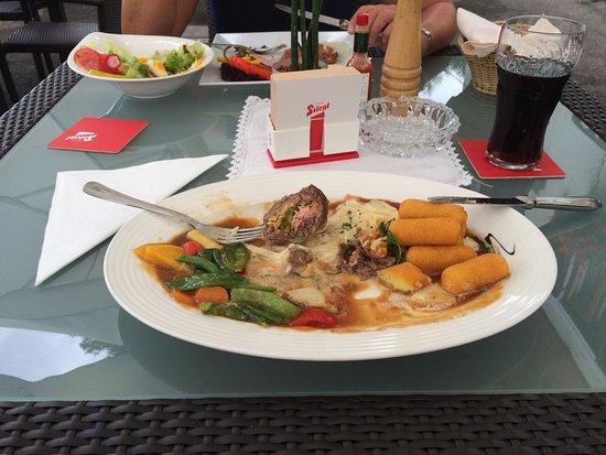 Spittal an der Drau, Österreich: Een wel heel voordelige lunch dagschotel