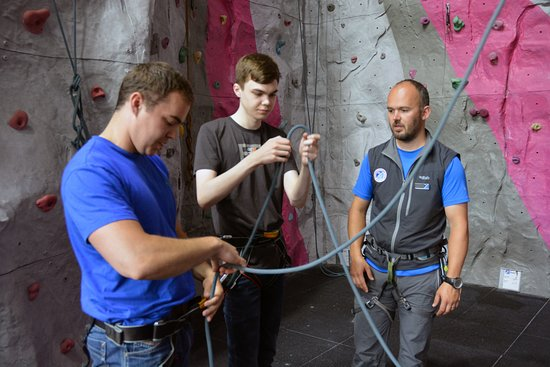 Kinlochleven, UK: Expert tuition on the climbing walls